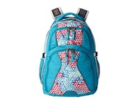 High Sierra Swerve Backpack Tropic Teal Galaxy Tribe White Backpack Bags Blue