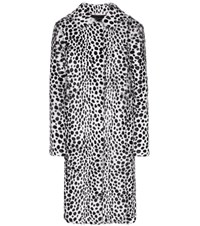 Givenchy Printed Fur Coat White