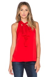 Milly Scarf Halter Top Red