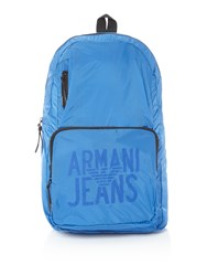 Armani Jeans Ripstop Foldaway Backpack Royal Blue