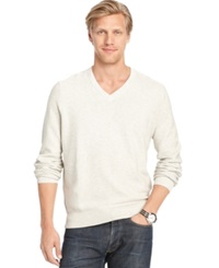 Izod Allover Links V Neck Fine Gauge Sweater Edfc Htr