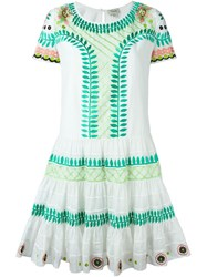Temperley London 'Arabelle' Embroidered Dress Green