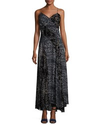 Haute Hippie Off The Beaten Track Paisley Maxi Dress Psycho Burn Out