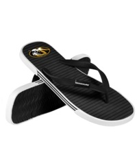 Forever Collectibles Missouri Tigers Thong Sandals Black Gold