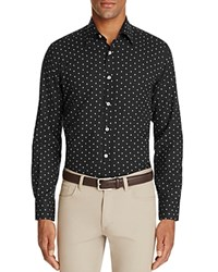 Canali Floral Print Woven Classic Fit Button Down Shirt Charcoal