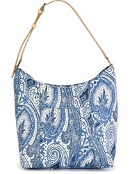 Etro Paisley Print Shoulder Bag White
