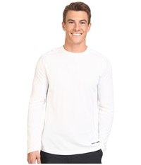 Terramar Microcool Long Sleeve Crew W8933 White Men's Long Sleeve Pullover