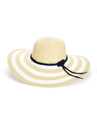 Betmar Striped Straw Sun Hat White Natural