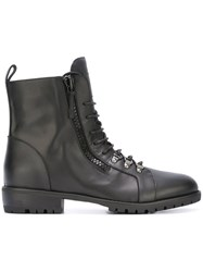 Giuseppe Zanotti Design 'Birel' Lace Up Boots Black