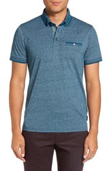 Ted Baker Men's London 'Sabino' Modern Trim Fit Polo Teal