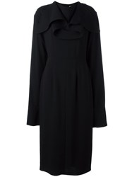 J.W.Anderson Cape Sleeves Dress Black