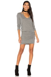 Pam And Gela Split V Neck Dress Gray