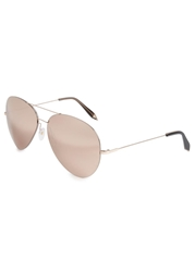Victoria Beckham 18Kt Gold Mirrored Aviator Style Sunglasses