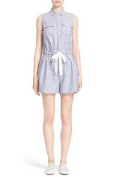 Women's Kate Spade New York Linen And Cotton Stripe Romper