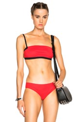 T By Alexander Wang Bandeau Bikini Top In Red