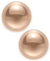 Macy's Gold Ball Stud Earrings 8Mm In 14K Yellow White Or Rose Gold