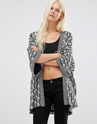 Minimum Textured Kimono Jacket Black