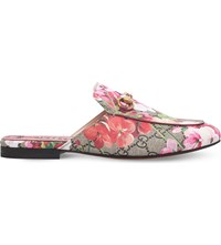 Gucci Princetown Printed Slippers Pink Comb