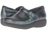 Softwalk Meredith Iridescent Leather Women's Slip On Shoes Black