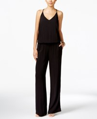 Inc International Concepts Blouson Wide Leg Jumpsuit Only At Macy's Deep Black
