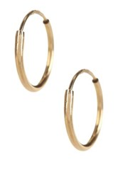 Candela 14K Yellow Gold 10Mm Endless Hoop Earrings Metallic