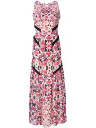 Sam And Lavi Flower Print Long Dress White