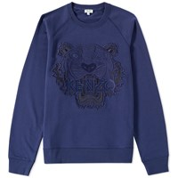 Kenzo Tiger Mesh Crew Sweat Blue