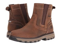 Caterpillar Pelton Dark Beige Men's Work Pull On Boots Brown