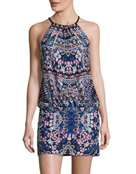 Laundry By Shelli Segal Printed Halter Tankini Top Black