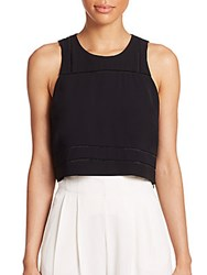 Parker Phil Combo Cropped Tank Black