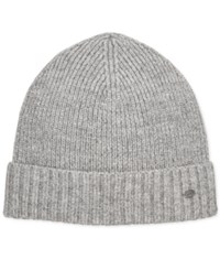 Hugo Boss Men's Knit Cuffed Beanie Grey