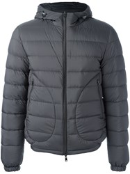 Herno Hooded Padded Jacket Grey