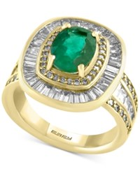 Effy Final Call Emerald 1 1 2 Ct. T.W. And Diamond 2 1 4 Ct. T.W. Ring In 14K Gold Yellow Gold