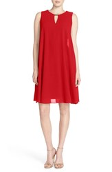 Vince Camuto Women's Keyhole Trapeze Dress Red