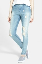Junior Women's Lee Cooper 'Janie' Skinny Jeans Medium Wash
