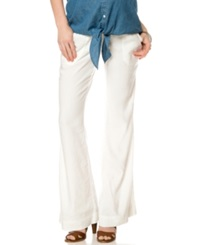 A Pea In The Pod Maternity Linen Wide Leg Pants White