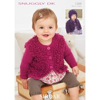 Sirdar Snuggly Children's Hat And Cardigan Knitting Pattern 1269