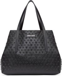 Jimmy Choo Black Star Embossed Pimlico Tote