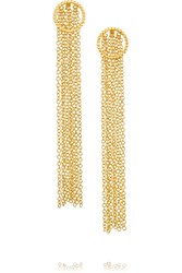 Arme De L'amour Gold Plated Earrings Metallic
