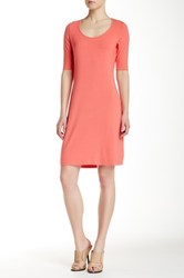 Tommy Bahama Tambour Elbow Sleeve Scoop Neck Dress Pink