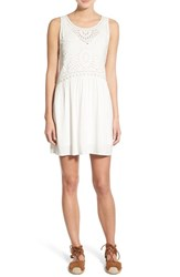 Women's Hinge Embroidered Eyelet A Line Dress
