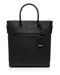 Mcm Markus Leather Medium Tote Black