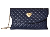Love Moschino Envelope Clutch Navy Clutch Handbags
