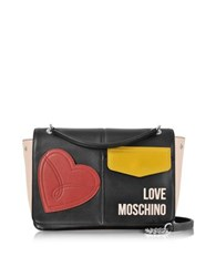 Love Moschino Color Block Eco Leather Patchwork Shoulder Bag Multicolor