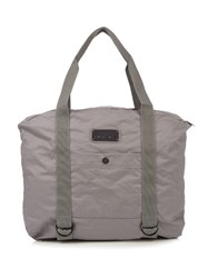 Adidas By Stella Mccartney Yoga Cotton Canvas Tote Grey