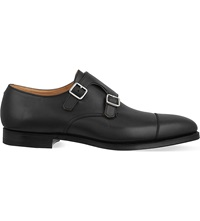 Crockett Jones Lowndes Double Monk Shoes Black