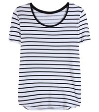 81 Hours Voo Striped T Shirt White