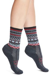Women's Smartwool 'Falke Isle' Merino Wool Blend Crew Socks Charcoal Heather