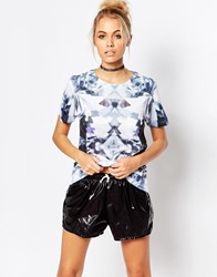 Jaded London Diamond Zoom T Shirt Blue