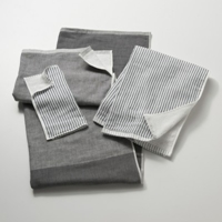 Gray Stripe Chambray And Terrycloth Towels Schoolhouse Electric And Supply Co.
